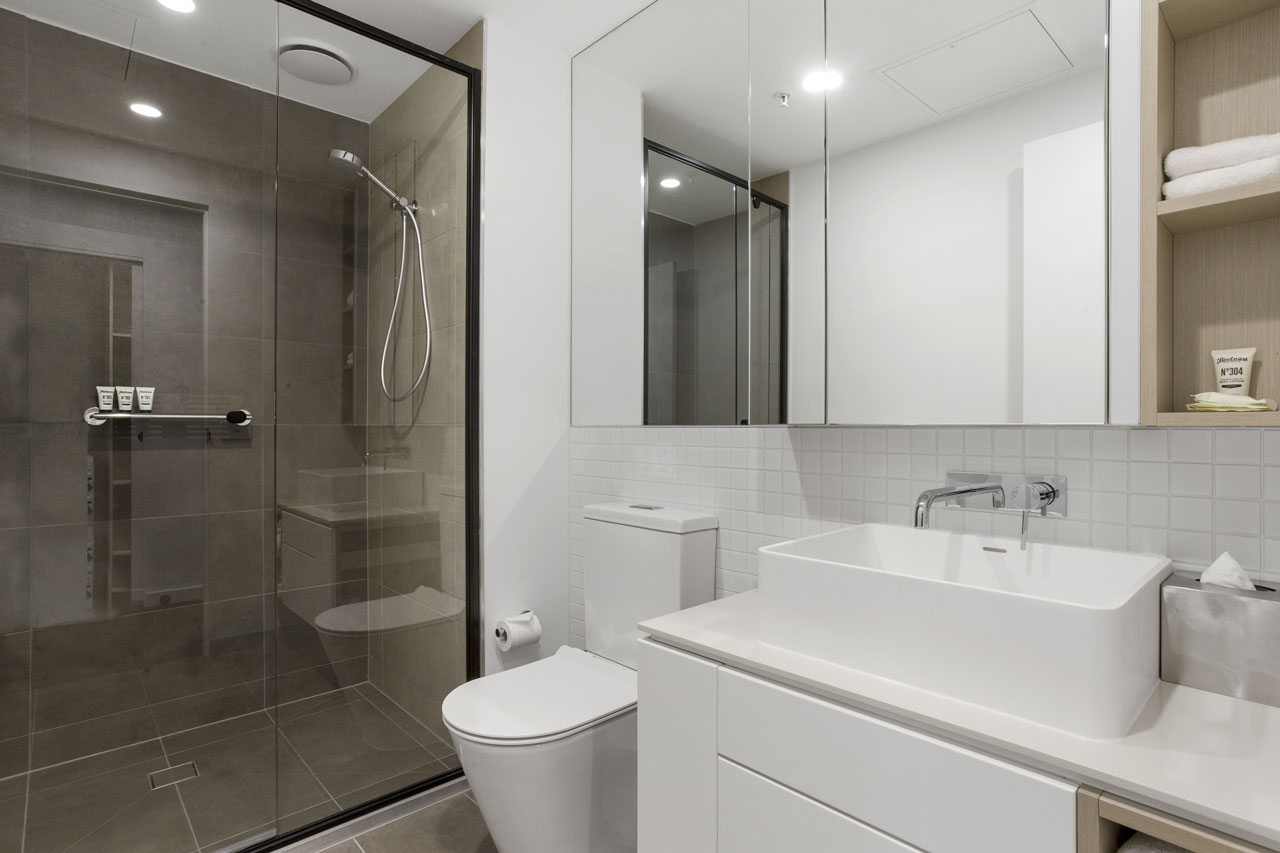 Bathroom in 1 bedroom apartment at The Sebel Moonee Ponds