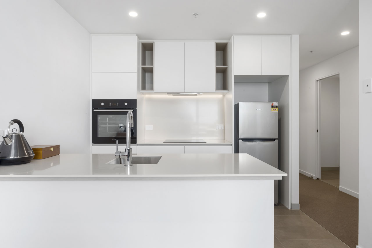 Kitchen at The Sebel Moonee Ponds in King apartment