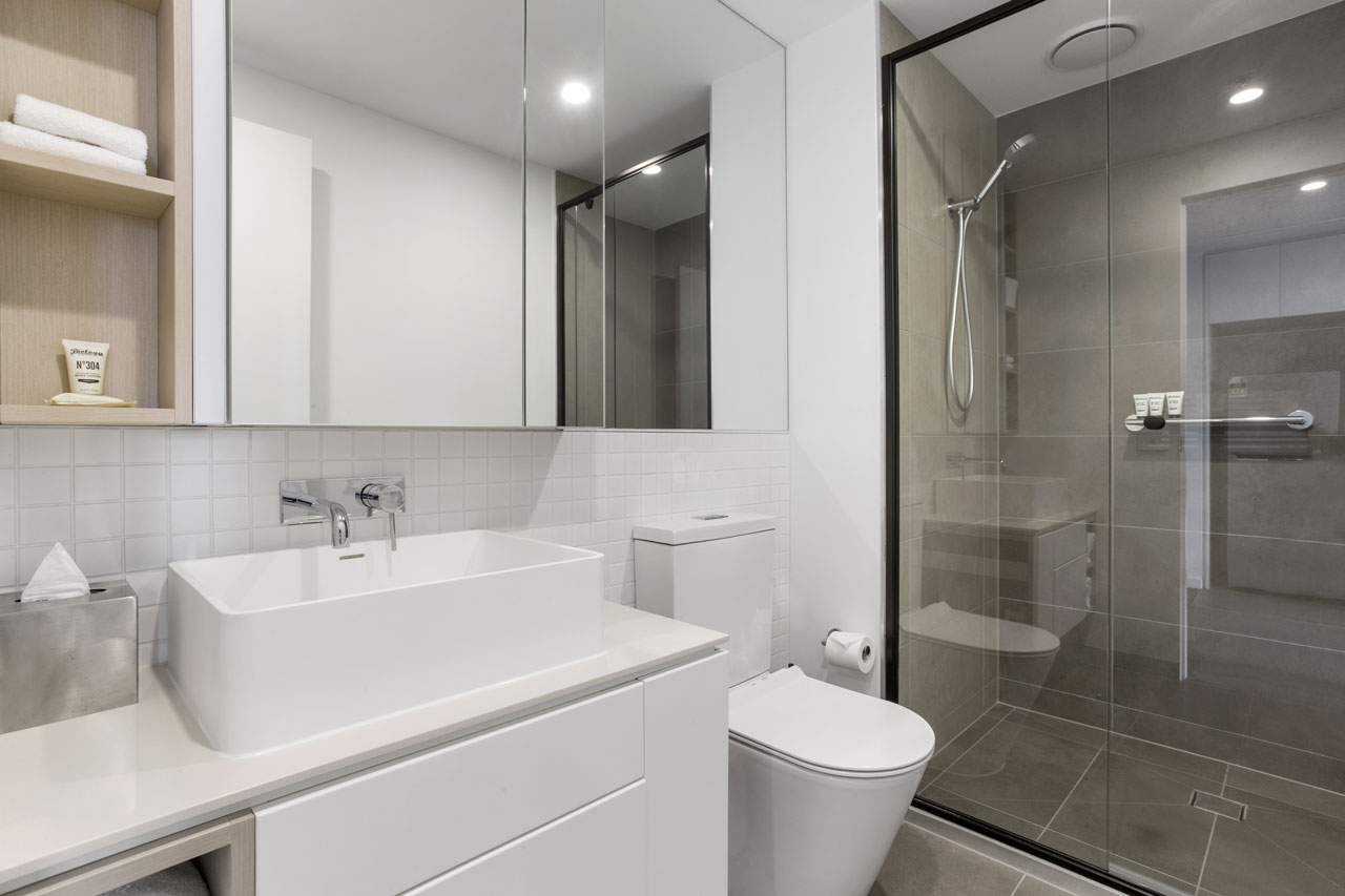 bathroom at The Sebel Moonee Ponds in the 1 bedroom apartment