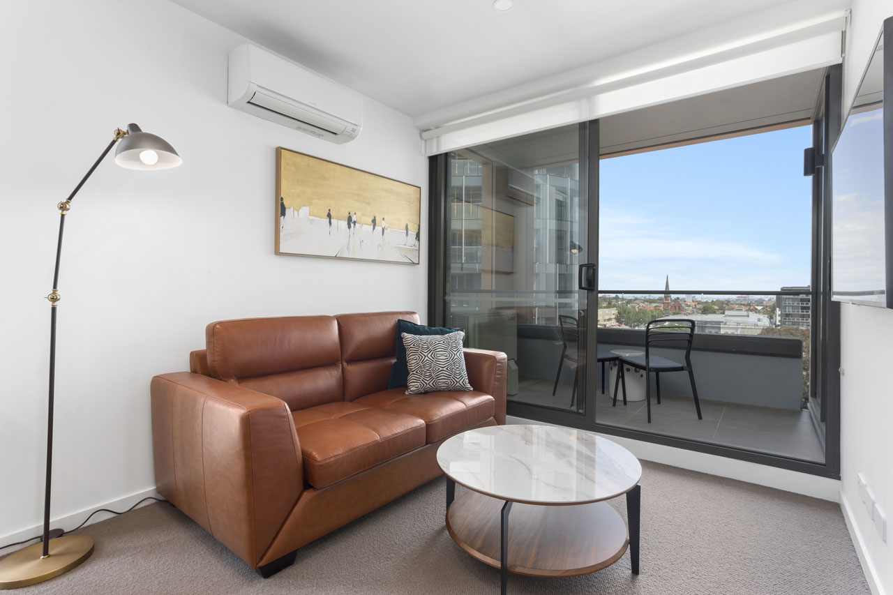 Lounge and balcony at The Sebel Moonee Ponds