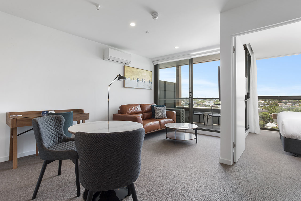 Lounge and dining at The Sebel Moonee Ponds apartment
