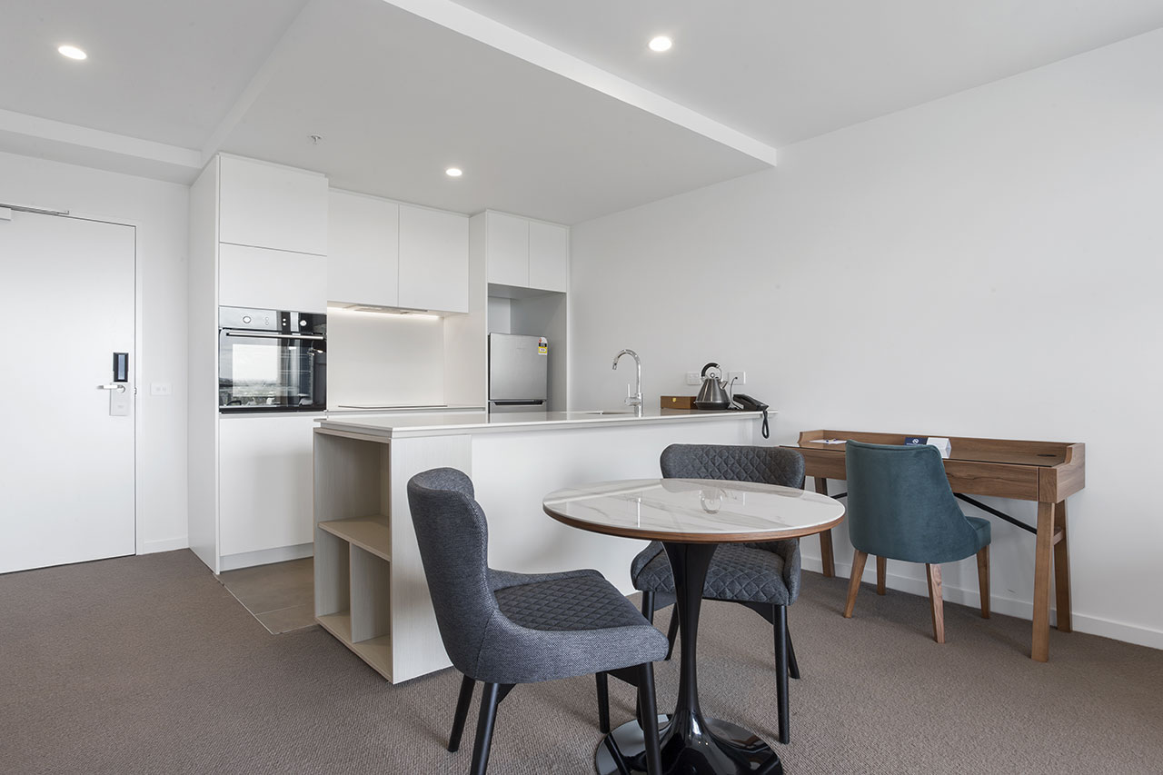 Kitchen and dining at The Sebel Moonee Ponds