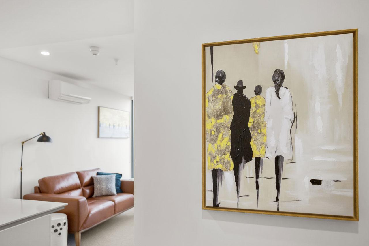 Artwork at King bedroom apartment at The Sebel Moonee Ponds