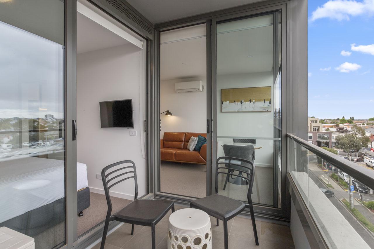 Balcony at The Sebel Moonee Ponds - I bedroom apartment