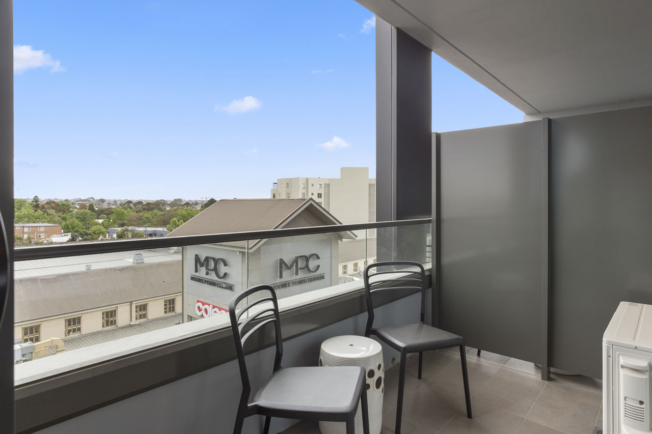 Balcony at The Sebel Moonee Ponds - 1 bedroom apartment