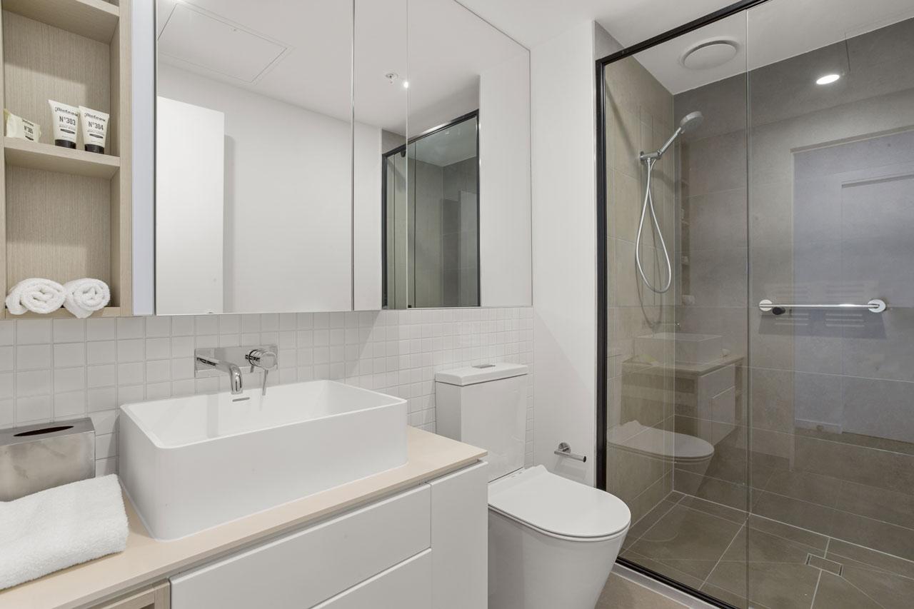Bathroom at The Sebel Moonee Ponds King bedroom apartment