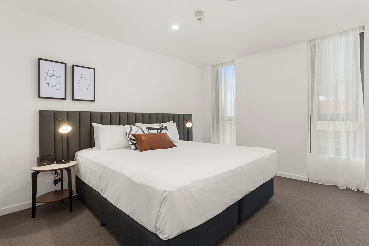 King bed at The Sebel Moonee Ponds