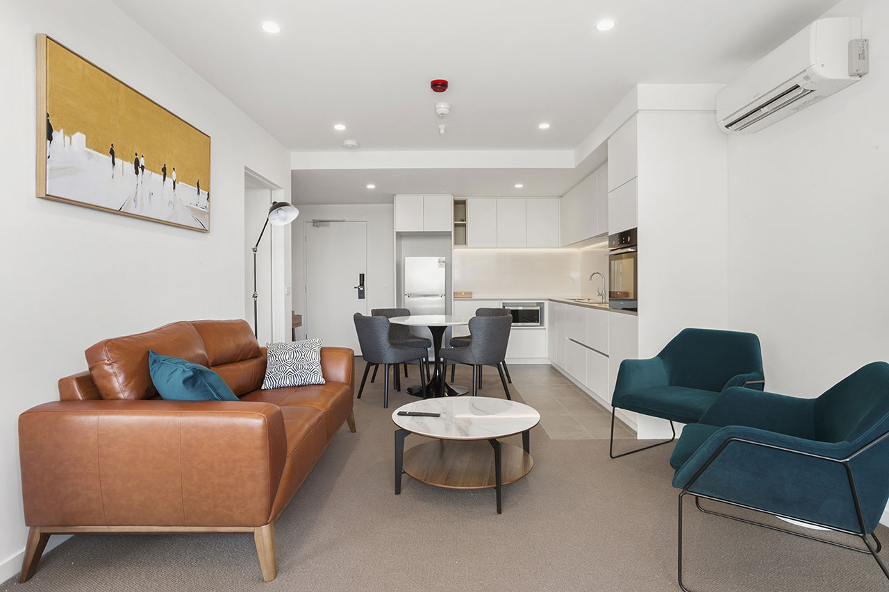 Lounge and kitchen at The Sebel Moonee Ponds