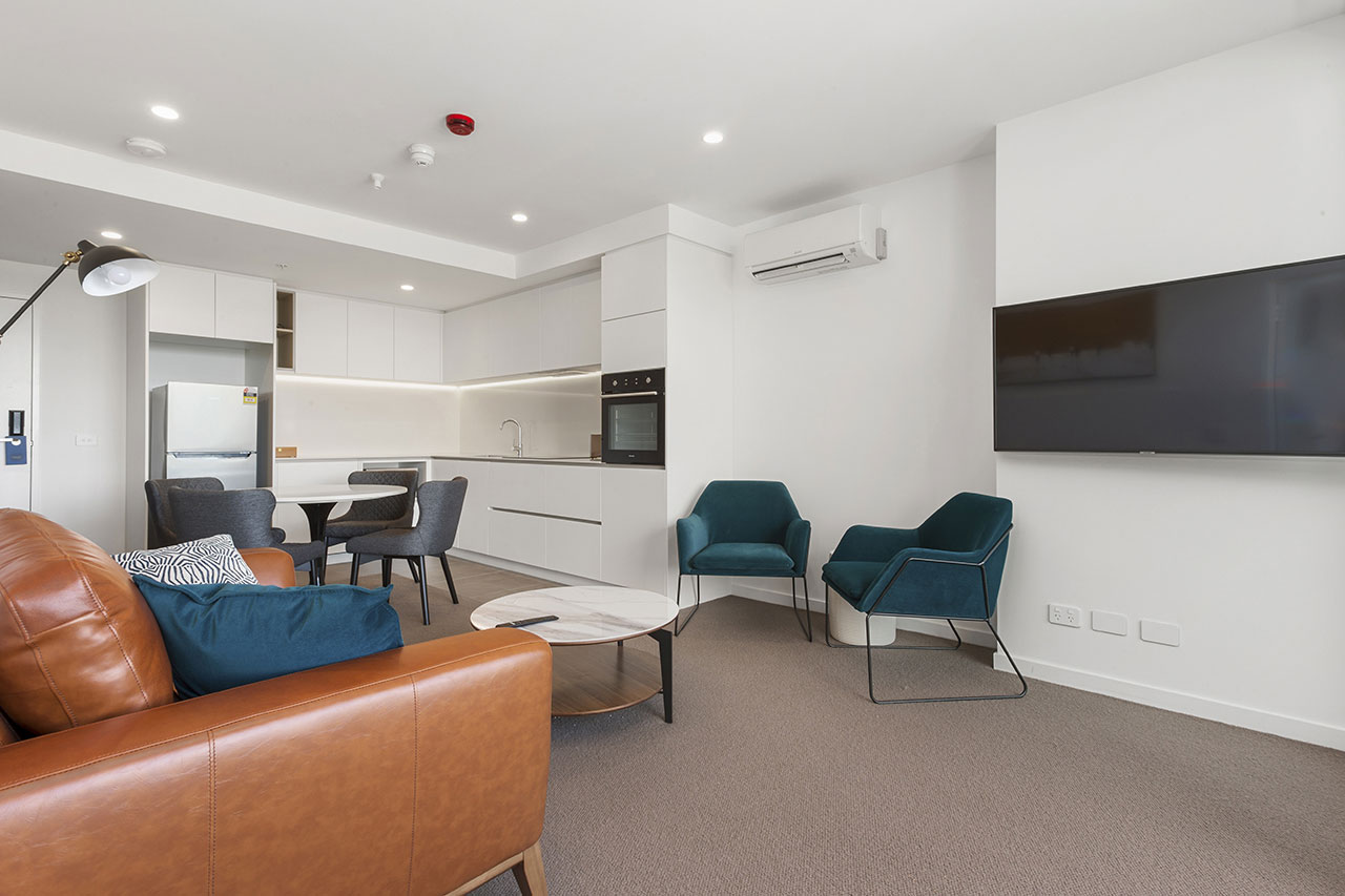 Lounge with TV at The Sebel Moonee Ponds