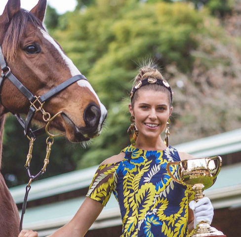 Melbourne Cup 2020 girl with a horse
